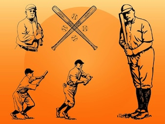 silueta de un hombre de béisbol