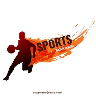 Silueta deportiva