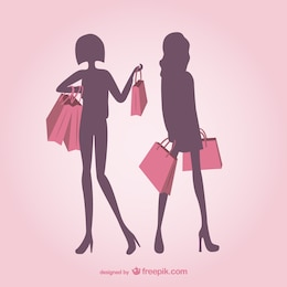 Siluetas de chicas a la moda