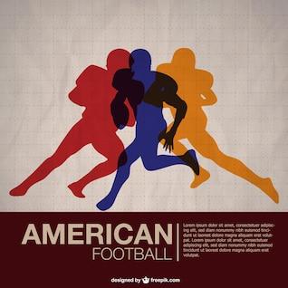Siluetas de colores de fútbol americano