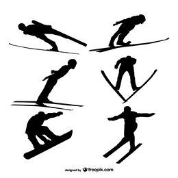 Siluetas de esquí