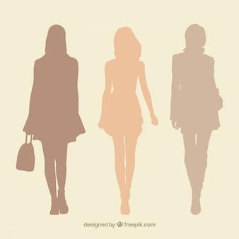 Siluetas de mujer