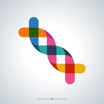Símbolo abstracto de ADN