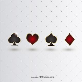 Símbolos brillantes de póker
