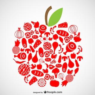 Símbolos de alimentos orgánicos