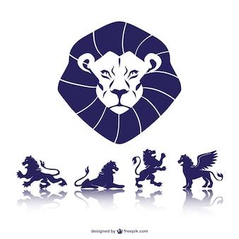 Símbolos de leones