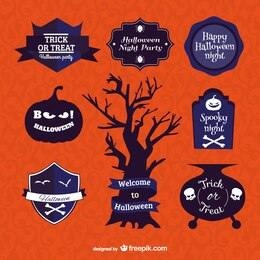 Símbolos y etiquetas de Halloween