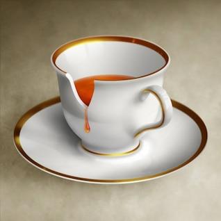 simulación de tazas de café de alta definición de imagen