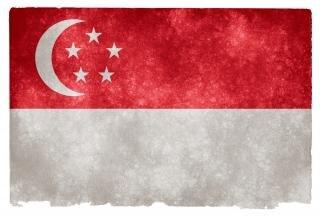 Singapur fondo grunge bandera