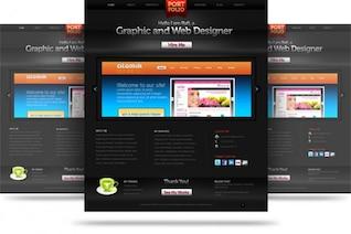 sitio web de Creative cartera de plantilla psd
