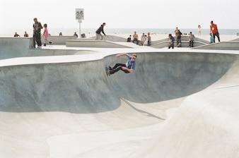 Skatepark en la playa