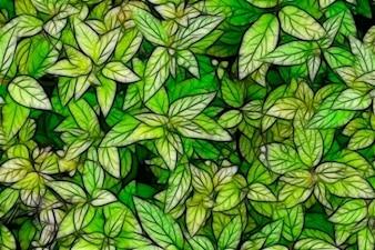 Sketch follaje verde