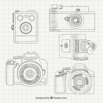 Colección de cámaras esbozadas
