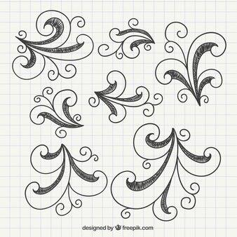 Remolinos doodle incompleta