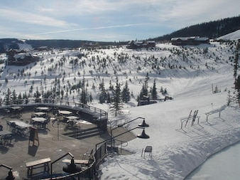 Terraza estación de esquí