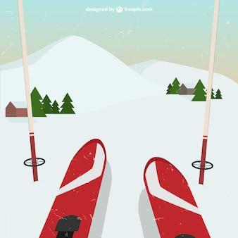 Vista en perspectiva de esquí