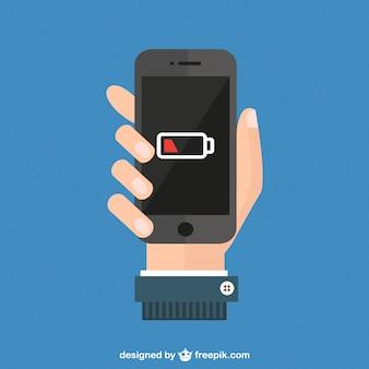 Vector de nivel de la batería en smartphone