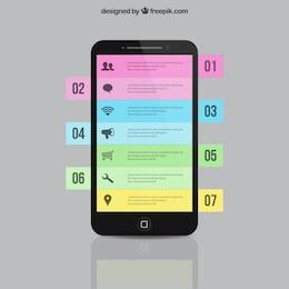 Smartphone infografía