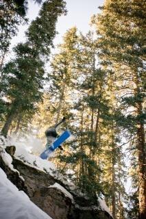 Snowboard fuera de pista aérea