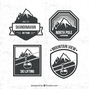 Pack de insignias de snowboard