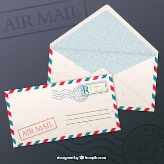 Sobres del correo aéreo