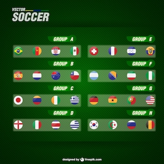 Banderas de países para fútbol