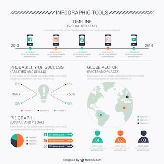 Elementos infograficos de redes sociales