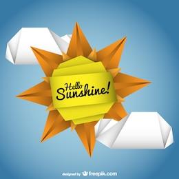 Sol vectorial estilo origami