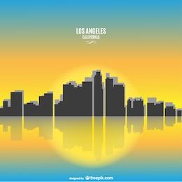 Soleado paisaje urbano de California