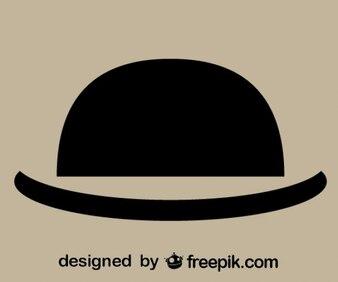 Sombrero redondo antiguo de caballero
