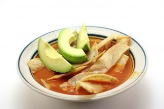 sopa de tortilla, dulces