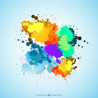 Manchas de pintura de colores
