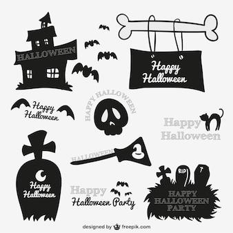 Espeluznantes de Halloween pegatinas