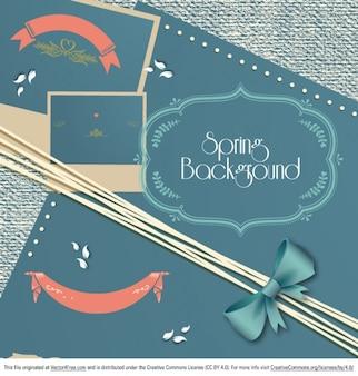Banner de primavera con marcos