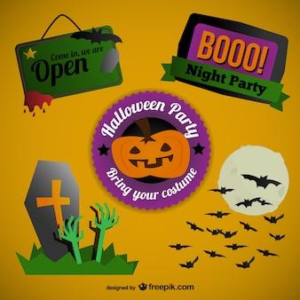 Stickers de colores para Halloween