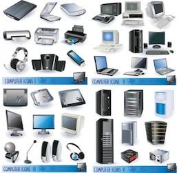 Stlish equipo y accesorios icono conjunto de vectores