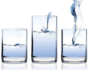 stock de agua de vectores en vidrio