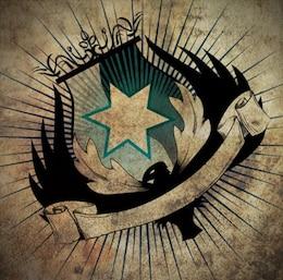 sucio del emblema del escudo