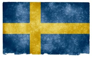 Suecia bandera del grunge