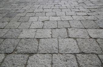 Suelo de calle de piedras