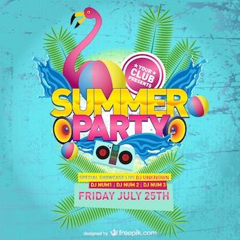 Plantilla de póster de fiesta de verano