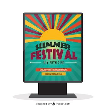Festival de verano - cartel plantilla vector