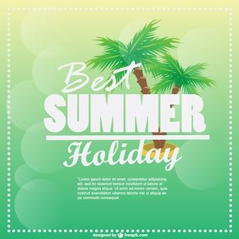 Vector de vacaciones de verano con palmeras