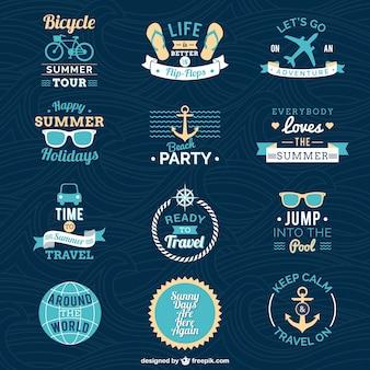 Insignias de vacaciones de verano