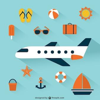 Iconos de las vacaciones de verano