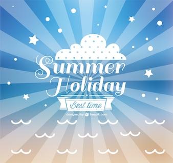 Vector de vacaciones de verano