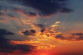 Sundawn en el cielo