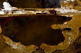 Superficie de metal oxidado, de fondo
