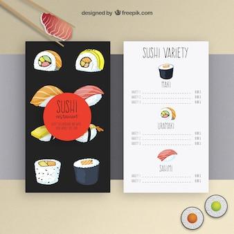 Sushi plantilla de menú