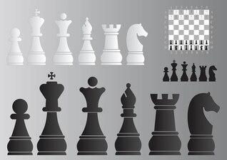 tablero de ajedrez y piezas